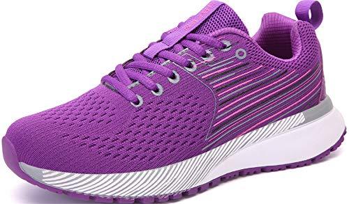 UBFEN Zapatillas para Running Mujer Deportivas Deportivo Zapatos para Correr Casual Walking 39 Morado