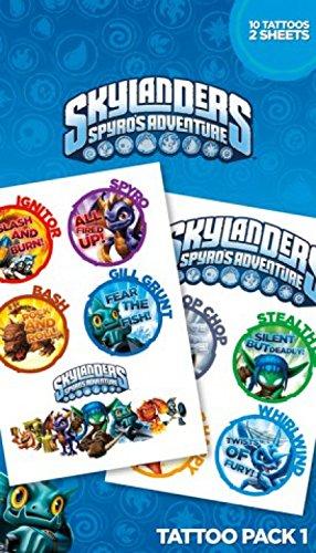 1art1 Skylanders - Spyro's Adventure, 10 Tatuaggi Set Tatuaggi (17 x 10cm)
