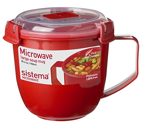 "Sistema SI1141 Suppentasse ""Microwave"" 900 ml, Kunststoff - rot"