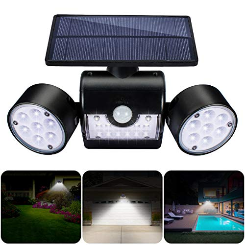 GIANTARM Solarlampen für Außen mit Bewegungsmelder 30 LEDs Wasserdicht IP65 Solarleuchte Garten 360° Drehbar Solar Wandleuchte Aussen