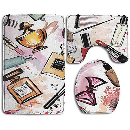 Not applicable Guiping Cosmetic Theme Pattern Mit Parfüm Lippenstift Nagellack Pinsel Badteppich...