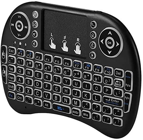 Juplay Mini teclado inalámbrico i8 para Smart TV, teclado inalámbrico con panel táctil, mini teclado para mando a distancia para Smart TV, PC, PAD, Xbox 360, PS3, Google Android TV Box, HTPC y IPTV