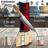 Zolmer® Profi Santokumesser aus deutschem Carbon Edelstahl und Pakkaholz - Rostfreies Sushi Messer mit Antihaftbeschichtung - Japanisches Küchenmesser - 7