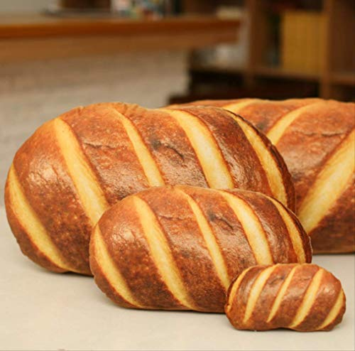 QWYU Simulation Bread Pillow 3D HD Printing Butter Bread Pillow Plush Toy 80CM