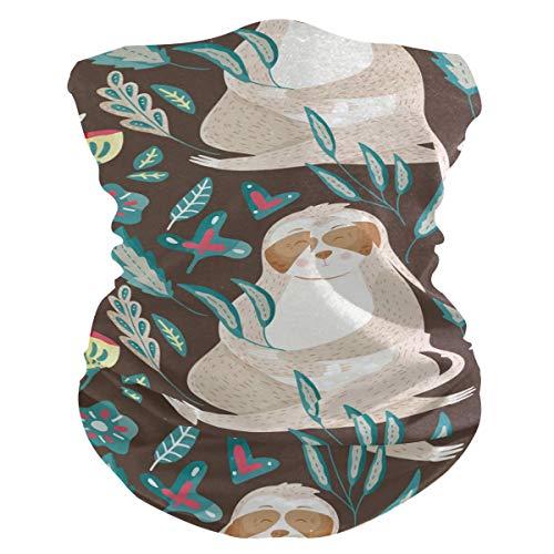 Stoff-Gesichtsmaske für Damen, multifunktional, Bandanas, Schnittmuster, Unisex, niedliches Faultier-Muster, bedruckbar, für Herren und Damen, Kopfbedeckung, Gesichts-Handtuch, waschbar, Innentasche