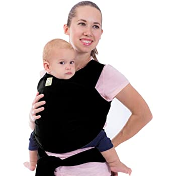 Nursing Cover Black Babycarrier Sling Wrap by Cozitot Small to Plus Size Baby Wrap Stretchy All Cloth Baby Carrier Best Baby Shower Gift Baby Carrier