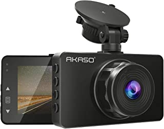 AKASO C330 Dash Cam, 1080P HD Car Dash Camera for Cars 3'' LCD Screen 170° Wide Angle Dashboard Camera, Updated Night Vision, Loop Recording, G-Sensor, Motion Detection