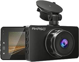 AKASO C330 Dash Cam, 1080P HD Car Dash Camera for Cars 3'' LCD Screen 170° Wide Angle Dashboard Camera, Updated Night Vision, Loop Recording, G-Sensor, Motion Detection