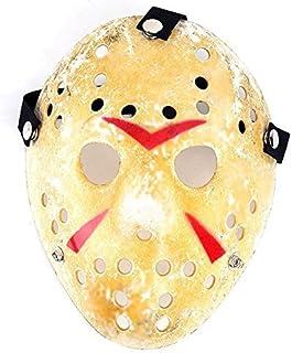 1PCS Gold Vintage Jason Voorhees Freddy Hockey Festival Halloween Masquerade Party Mask