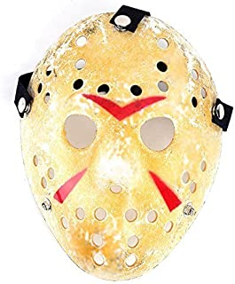 1PCS Gold Vintage Jason Voorhees Freddy Hockey Halloween Masquerade Mask