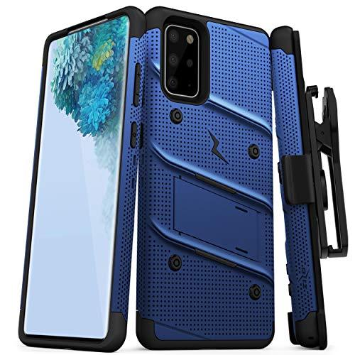 Zizo Bolt Series Schutzhülle für Galaxy S20 Plus, mit Ständer und Schlüsselband, blau / schwarz