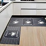 AGELMAT Kitchen Mat,[2PCS] Memory Foam Anti Fatigue Floor Mat Waterproof Standing Kitchen Rugs and Mats for Office, No-Slip Ergonomic Carpet for Sink Garage Laundry