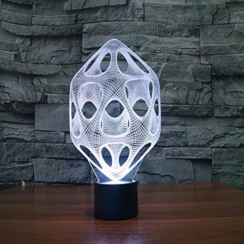 Yyhmkb Habitacion Pegar Mesa Noche Ofertas Luz Para Armarios Dulces Lámpara De Mesa Abstracta De La Atmósfera Del Regalo De La Luz Visual Led Del Tacto Colorido De La Luz 3D