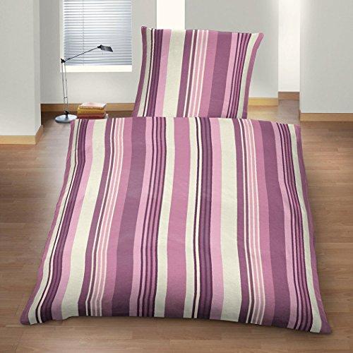 Setex Feinflanell Bettwäsche Stripes 135x200 cm + 80x80 cm