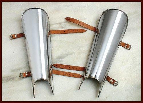 Battle-Merchant Paire de rails de jambe en acier 2 mm