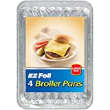Hefty Ez Foil Super Broiler Pan 11.8inch X 8.5inch X 1.25inch 4 Count (Pack of 12)