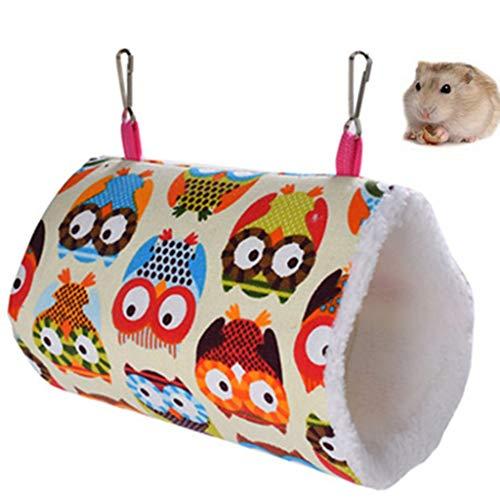 Egurs kleine huisdier hangmat uil patroon hamster opknoping Tunnel Sleeper voor papegaai eekhoorn Hamster met haak