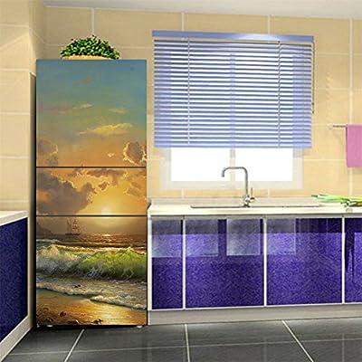 KELAI & craft art decor 3D Door Fridge Stickers Wall Mural Self-Adhesive Door Wallpaper Murals Stickers Waterproof Full Door Cover Refrigerator Stickers Wall Decal Hallway Mural