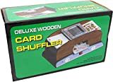 Tradeopia Corp. Electric Automatic Wooden Card Shuffler, Board Game Poker Playing Cards Wooden Electric Automatic Shuffler Perfect for Bridge Or Poker Sized Playing Cards