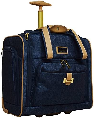 Nicole Miller Underseat Luggage Collection Small Lightweight 15 Inch Under Seat Bag Briefcase product image