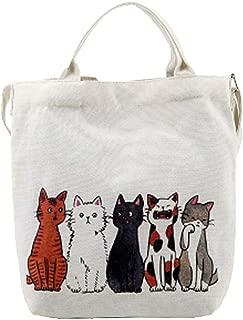 Tissu Voyage Sacs Shopping Mignon Kitty Chat Imprimé Sac Fourre-tout Pour Femmes