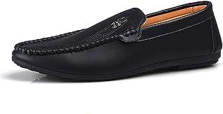 DADIJIER Ligero Transpirable Penny Loafers para Hombres de Cuero de Microfibra Boda de Negocios Citas Moda Zapatos Casuale...