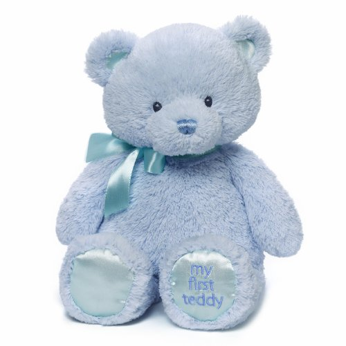 Baby GUND My First Teddy Bear Stuffed Animal Plush, Blue, 15'