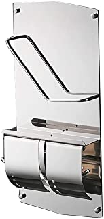 Toiletpapierhouder Toiletpapier houders weefselhouder roestvrij staal papier handdoekhouder met dekking en opslag plank Bo...