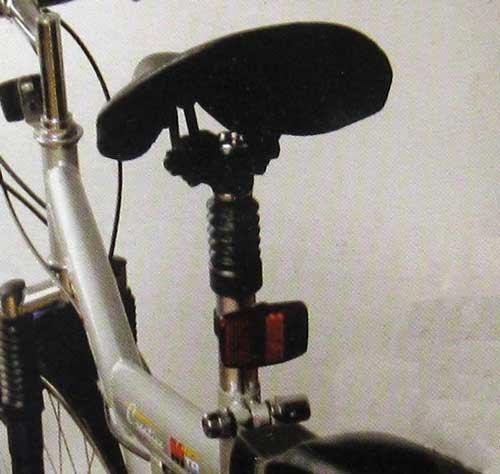 Land-Haus-Shop Fietszadelpen, metaal, geveerd, fietszadel stang ondersteuning, universeel (LHS)