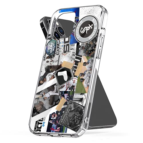 Phone Case Compatible with iPhone 8 X Xr 6 7 Se 2020 11 12 White 6s Sox Plus Collage Xs Pro Max Mini Combine Media Photo Mixed Jumbo Collage