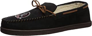 FOCO NCAA Mens Team Color Big Logo Moccasin Slippers