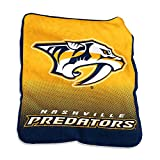 NHL Nashville Predators Plush Raschel Throw with Large Logo Blanket, Multicolor, 50' x 60'/One Size