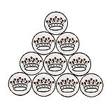 PINMEI Set of 10 Golf Ball Markers- Crown Pattern (Crown ball marker)