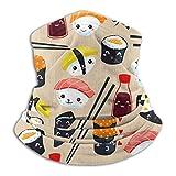 Garlincao Carino giapponese Best Sushi Pug Dog Rullo di riso unisex adulto scaldacollo passamontagna antivento copertura viso antipolvere sport mezza bandana