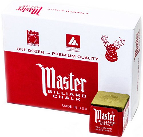 Best Buy! Master Billiard/Pool Cue Chalk Box, 12 Cubes, Gold