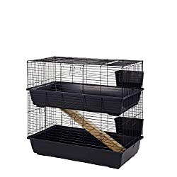 Large Rabbit Cages Black