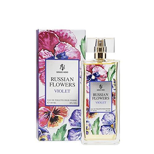 RUSSIAN FLOWERS Eau De Toilette per donne, 100ml - NUOVO profumo di fiori per lei (VIOLET)
