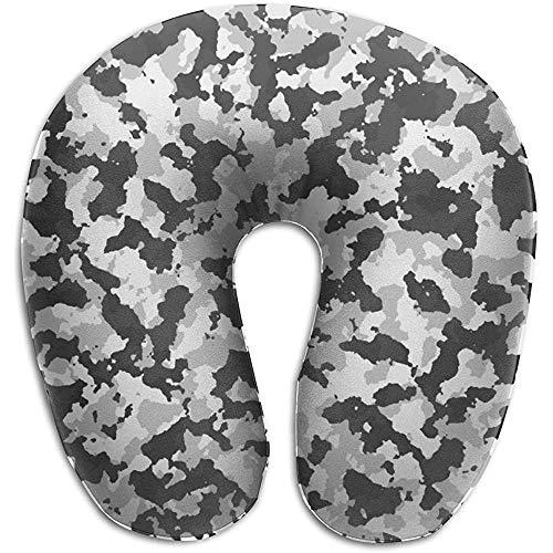 U-Förmiges Nackenhörnchen,Camouflage Tarn Texture U-Förmiges Nackenkissen Memory Foam Waschbar Für Flugreisen