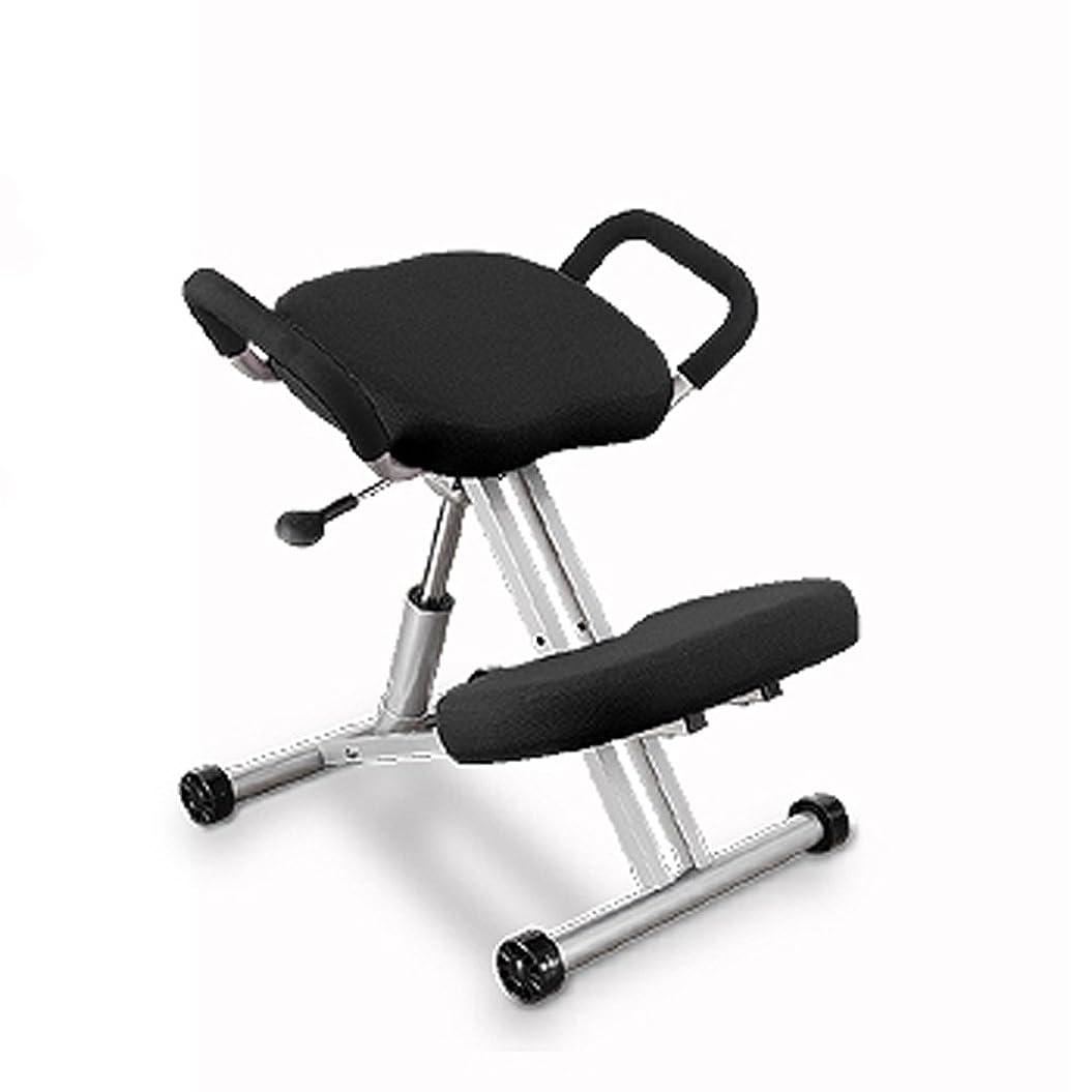 極端な後ろ、背後、背面(部サークルニーリングチェア ブラック キッズチェア 長時間 学習バックボーンチェア 子供用 椅子 姿勢 腰痛 改善