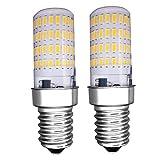 MZMing 2 Piezas E14 Pequeño LED Bulb 4W Bombillas Nevera - Dimmable 3000K Brillante Luz Blanca Cálida 450lm Ángulo de haz de de Bombilla Halógena de 40W Calor Bajo Usado para Nevera