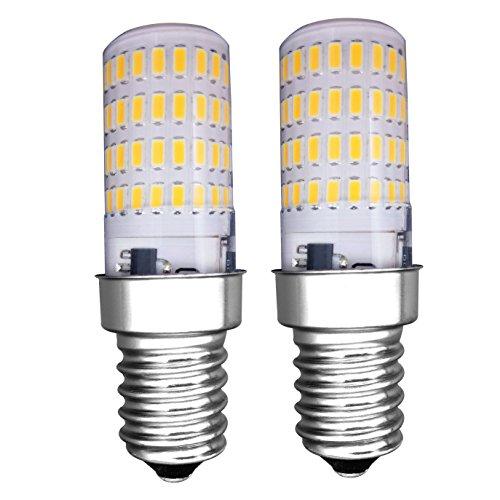 MZMing [2 Stück] E14 LED Glühbirne 4W Kühlschrank Glühbirne -Nein Dimmbar 3000K Helles Warmes weiß Licht 450 Lumen-Ersatz für 40W Halogenlampe - Niedrige Hitze für Kühlschrank / Dunstabzugshaube