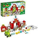 LEGO 10952 DUPLO Scheune, Traktor und Tierpflege Kleinkinder Spielzeug ab 2 Jahren mit Figuren: Pferd, Schwein und Kuh