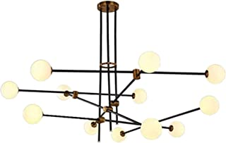 Modern Chandelier Pendant Light, Adjustable Luxury Ceiling Light G9 Frosted Glass Shade Ceiling Fixture for Living Room Re...