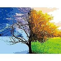 数字油絵 塗り絵 子供と大人と初心者のためのアクリル油絵、デジタル絵画40 x 50センチ キャンバス-フレームなし