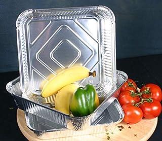 KANKOO Aluminium Foil Trays Disposable Bakeware Pans Disposable Baking Pan Non Stick Baking Trays Pie Baking Tray Square Baking Trays For Cakes