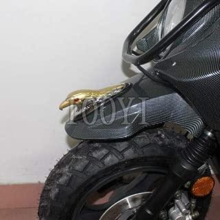 FidgetFidget Ornament Statue Gold Motorcycle Front Eagle Head Fender Car Bonnet Red Eye