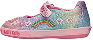 Lelli Kelly Rainbow Unicorn Dolly Multicolor (Multi Glitter) Tela Niño Mary Jane Zapatos