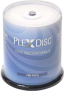 PlexDisc 632-215-BX DVD-R 4.7GB 16X White Inkjet Printable Surface Hub Printable with 100pk Cake Box (FFB)