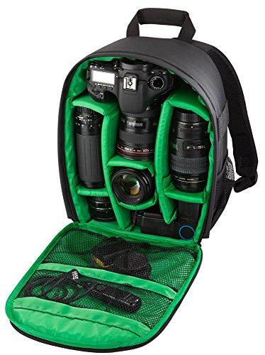 Riva Kamera Reise Rucksack Case Schutz Tasche Bag für SLR, Objektive und Zubehör in Schwarz für Olympus E-330