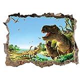 3D Gebrochen Wand Dinosaurier Paradies Schlafzimmer Wohnzimmer Kinderzimmer Wandaufkleber Grün Dekorative Malerei